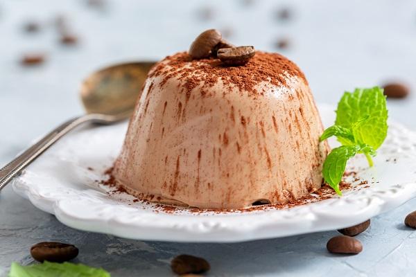 Шоколадное суфле из ряженки и желатина